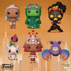 Heres are the new Moana Pop!s coming soon. I need to start collecting the Moana series Heres are the new Moana Pop!s coming soon. I need to start collecting the Moana series Walt Disney, Disney Pop, Funko Pop Dolls, Funko Toys, Teen Titans, Kawaii, Pop Vinyl Collection, Pop Figurine, Funk Pop