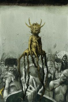 Santiago Caruso - Santiago Caruso's illustrations are deceptively dark and capture a surreal aesthetic. Santiago Caruso's illustrations are done in a steampunk styl. Art And Illustration, Steampunk Illustration, Illustrations, Creepy Art, Weird Art, Macabre Art, Occult Art, Arte Horror, Creature Design