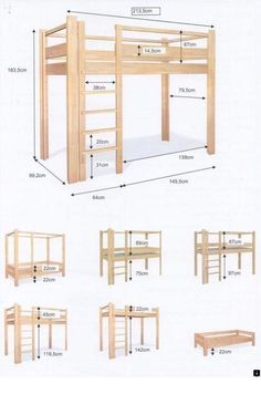 Wow check out this first rate wood bunk beds - what an artistic design and development Bunk Beds Built In, Loft Bunk Beds, Kids Bunk Beds, Build A Loft Bed, Loft Bed Plans, Room Design Bedroom, Home Room Design, Bunk Bed Steps, Adult Loft Bed