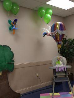 Fairy balloons and Raelin's high chair