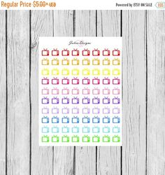 On Sale Television TV Icon Planner Stickers for by JaloveDesigns
