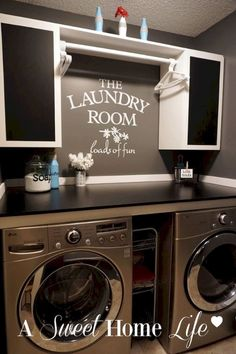 Design Ideas for your Laundry Room Organization Modern Navy Laundry Room Design Idea Refresh Laundry room organization Small laundry room ideas Laundry room signs Laundry room makeover Farmhouse laundry room Diy laundry room ideas