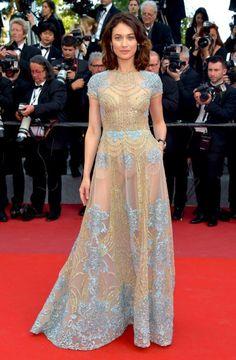 hollywood-fashion: Olga Kurylenko in Elie Saab Couture at the