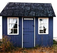 Little blue house. Aeroe, Denmark. Photograph: Niki of my scandinavian home blog.