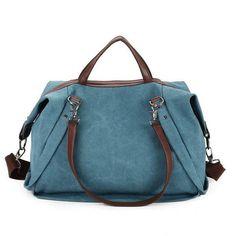 Women Multi Pocket Canvas Handbag Tote