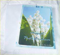 """Carte double 1er mai """" Muguet porte bonheur """" 10x15cm : Cartes par celinephotosartnature"""