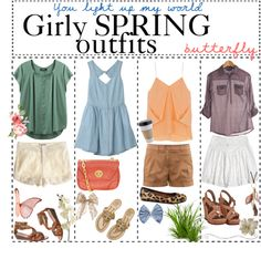 """tip 86: girly spring outfits!"" by pretty-cute-tips ❤ liked on Polyvore"