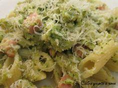 Penne ai broccoli prosciutto e pinoli, ricetta primi veloci