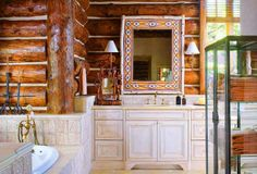 log home interior design | Home Interiors Integrating Trees and Branches in Interior Design ...