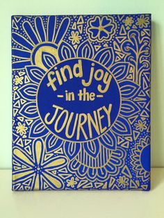 Find Joy in the Journey Quote Canvas 8x10in. by OhMyPoshCanvases