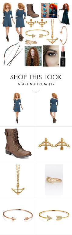 """Merida"" by lillymcicero ❤ liked on Polyvore featuring American Rag Cie, Bow & Arrow, Bling Jewelry and Smashbox"
