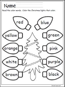 Free color worksheet. Students read the color words and color the leaves that color. Great fall activity. This free page comes from my Fall Literacy No Prep Pack (39 Pages) Click To View