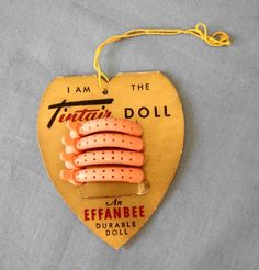 1950s Hard Plastic Effanbee Tintair Doll Wrist Tag Curlers