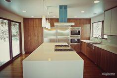 I love mid century modern kitchens