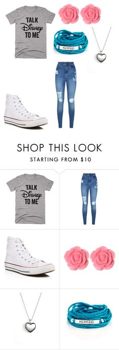 """""""whatever"""" by candr055 ❤ liked on Polyvore featuring Disney, Lipsy, Converse, Dollydagger, Pandora and Blooming Lotus Jewelry"""