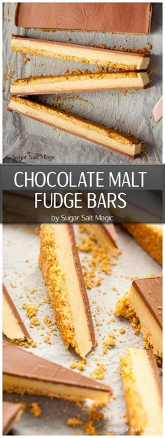 A creamy malted milk fudge filling on a biscuit base and covered in chocolate. This is like Matesers in fudge form. Fudge Recipes, Baking Recipes, Keto Recipes, Other Recipes, Sweet Recipes, Fudge Cake, Cake Bars, Chocolate Malt, Malted Milk