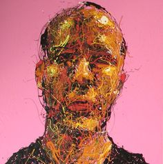 Craig Paul Nowak abstract drip portrait you me everybody pink Drip Painting, Abstract Portrait, Jackson Pollock, Pictures To Paint, Paintings, Artist, Pink, Paint, Painting Art