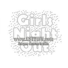 Girls Night Out Iron-on Rhinestone Transfer