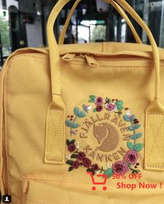 - Sticken & Stickerei Frauenclub , The Effective Pictures We Offer You About DIY Hair Accessories halloween A quality picture can tell you many things. Mochila Kanken, Kanken Backpack, Embroidery Art, Embroidery Stitches, Embroidery Patterns, Embroidery Fashion, Fjallraven, Broderie Simple, Ideias Diy