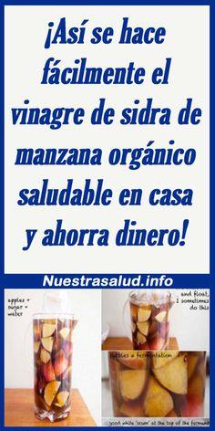 Sin Gluten, Tips, Pickled Tomatoes, Natural Health, Juices, Pickling, Apple Cider Vinegar, Food Art, Ginger Beer