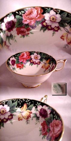 VINTAGE PARAGON ENGLAND TEA CUP NO SAUCER FLORAL ROSES GOLD ! | Pottery & Glass, Pottery & China, China & Dinnerware | eBay!