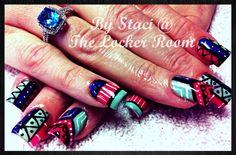 Bright tribal nails