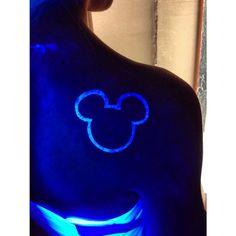 Hidden mickey uv ink tattoo Disney blacklight