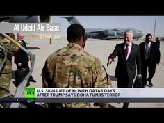 US signs $12bn worth jet deal with Qatar days after Trump called Doha 'terrorist funder' - YouTube