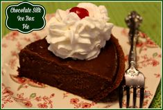 Sweet Tea and Cornbread: Chocolate Silk Ice Box Pie!