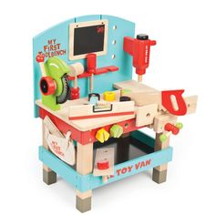 First Tool Bench - a stunning wooden tool bench from Le Toy Van makes a good birthday gift for kids.