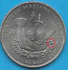 2009 P - MARIANA ISLANDS STATE QUARTER - REV - OBV ERROR COIN  - UNCIRC