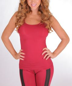 Love this Maroon Speed Racer Tank - Women by BlueFit on #zulily! #zulilyfinds