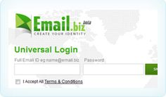 Login With Any Email Address with Email.biz
