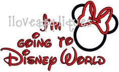 INSTANT DOWNOAD Cute Minnie Mouse Going to Disney Trip Celebration Vacation Applique Embroidery Design 2 Digital files on Etsy, $2.99