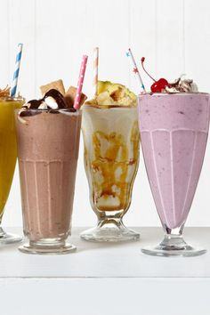 From a drink reminiscent of sitting by the campfire to one that will make you feel like you've been transported to the tropics, there are so many fun ways to update your classic shake this summer. Make a S'mores Shake, a boozy Pineapple Bourbon Shake, or a Cherry Malt!