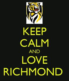 Yellow and Black always. Richmond Football Club, Keep Calm And Love, Parrots, Tigers, Athletes, Bucket, Party Ideas, Strong, Yellow