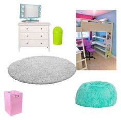 """""""Teenage girls bedroom"""" by noellebarnak on Polyvore featuring interior, interiors, interior design, home, home decor, interior decorating, Offex, Room Essentials and bedroom"""