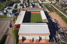 Aerial Picture of Aberdeen football Clubs Stadium - Pittodrie by bestviewedfromabove.co.uk, via Flickr