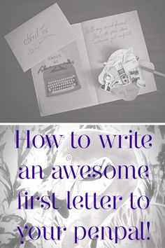 Awesome creative first letter to your penpal. Mail art, happy mail, free printable.