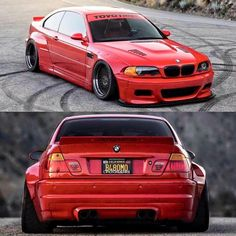 BMW E46 M3 red widebody