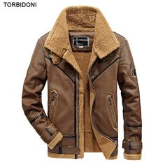 Male Locomotive Leather Jacket  Motorcycle PU Jackets Coats 2017 New Autumn Winter Thick Warm Fleece Lining Men Casual Outwear #Affiliate