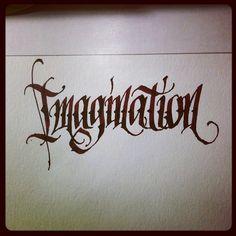 #imagination #calligraphy #calligraffiti