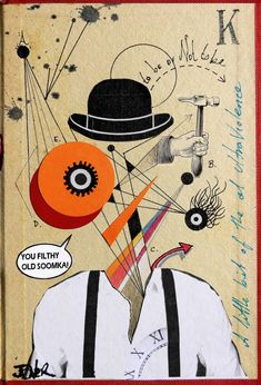 Buy Prints of clockwork (homage kubrick), an Ink Collage on Paper, by LOUI JOVER from Australia, Sold out, Price is $230, Size is 7.1 x 4.7 x 0 in.