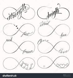 Popular Infinity Symbols Tattoo Design