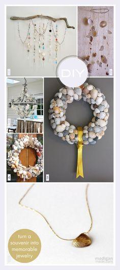 Projets créatifs avec des coquillages