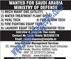 Connecting People: WANTED FOR SAUDI ARABIA MINISTRY OF DEFENSE