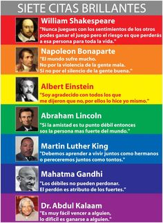 siete citas brillantes   seven brilliant quotes