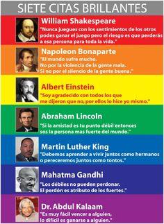 siete citas brillantes   seven brilliant quotes