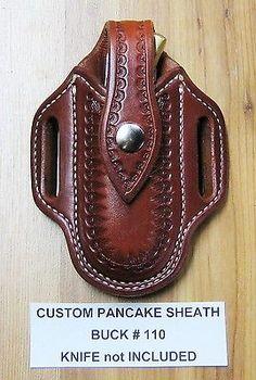 Custom Pancake Sheath For Buck #110 #111 Folding Hunter Knife