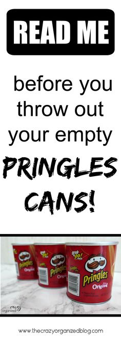 Pringles cans can come in handy in so many ways! You'd be surprised how you can put them to use!